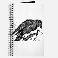 Vintage Raven in Tree Illustration Journal