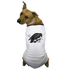 Vintage Raven in Tree Illustration Dog T-Shirt