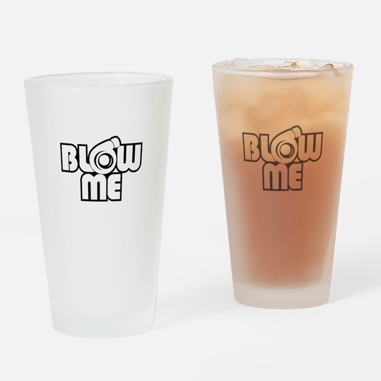 blow me turbo Drinking Glass