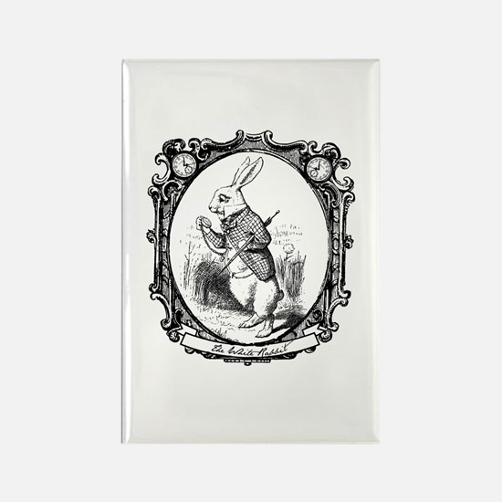 The White Rabbit Rectangle Magnet