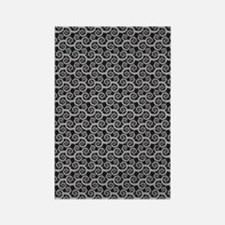 Black and Gray Swirls Rectangle Magnet