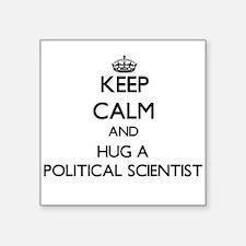 Keep Calm and Hug a Political Scientist Sticker