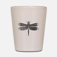 Vintage Dragonfly Shot Glass