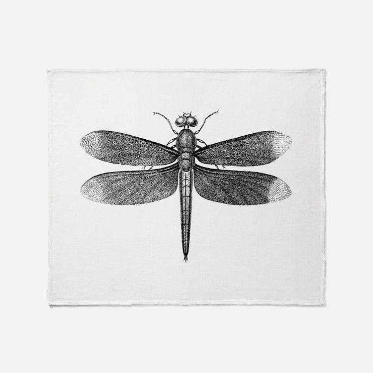 Vintage Dragonfly Throw Blanket