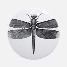 Vintage Dragonfly Ornament (Round)