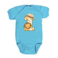 1st Birthday Safari Lion Baby Bodysuit