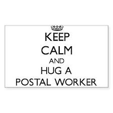 Keep Calm and Hug a Postal Worker Decal