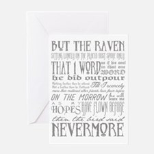 Raven Nevermore Greeting Card