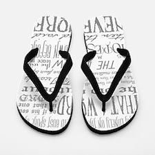 Raven Nevermore Flip Flops