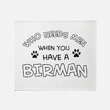 Cool Birman designs Throw Blanket