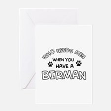 Cool Birman designs Greeting Card