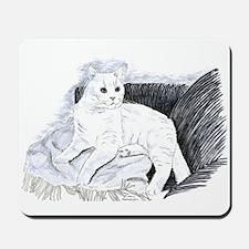 White Cat Mousepad