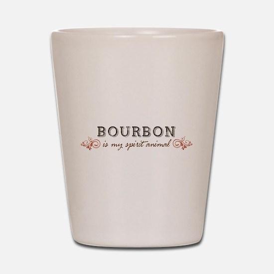 Bourbon Is My Spirit Animal Shot Glass