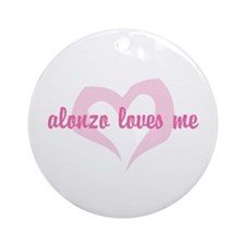 """Alonzo Loves Me"" Ornament (Round)"