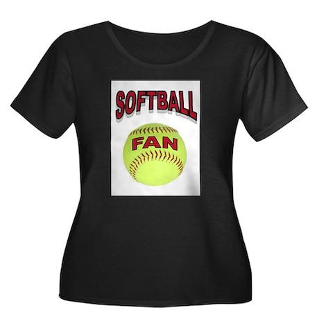 SOFTBALL FAN Plus Size T-Shirt