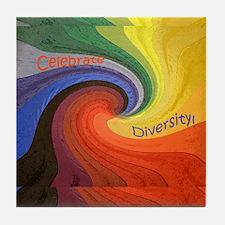 Diversity square1 Tile Coaster