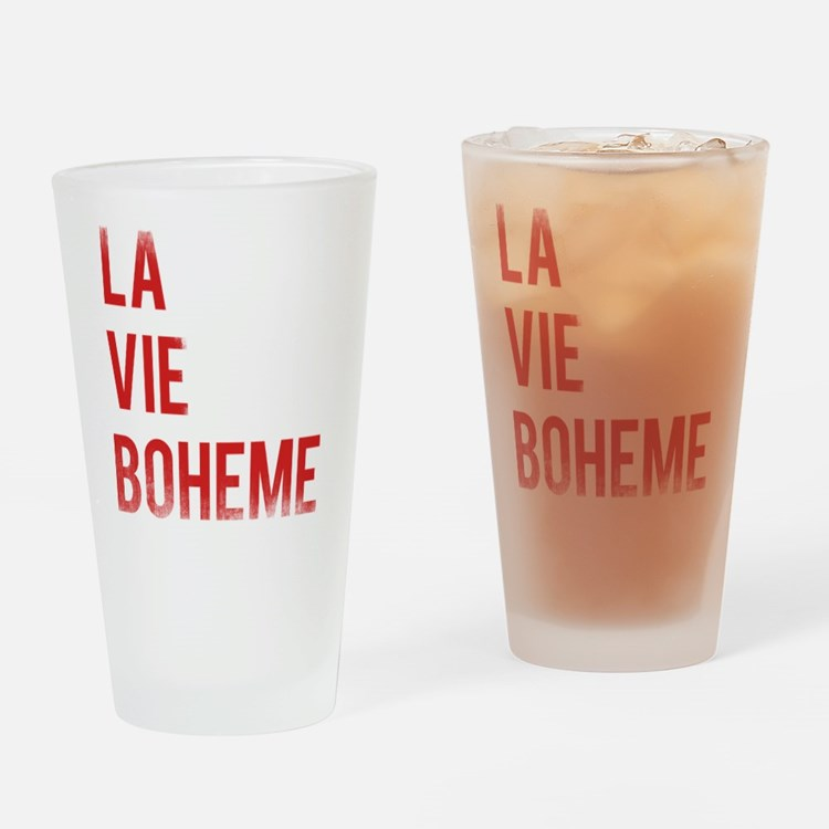 La Vie Boheme Drinking Glass