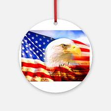 American Bald Eagle Collage Ornament (Round)