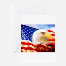 American Bald Eagle Collage Greeting Cards