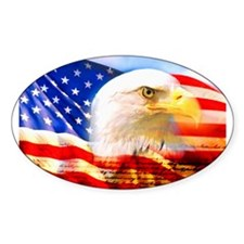 American Bald Eagle Collage Decal