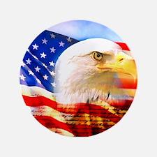 "American Bald Eagle Collage 3.5"" Button"
