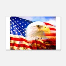 American Bald Eagle Collage Car Magnet 20 x 12
