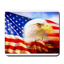 American Bald Eagle Collage Mousepad