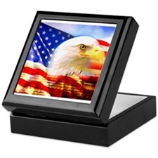 American Bald Eagle Collage Keepsake Box