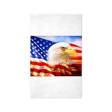 American Bald Eagle Collage 3'x5' Area Rug
