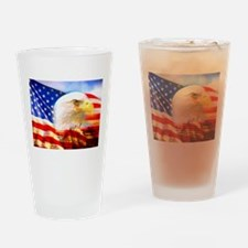 American Bald Eagle Collage Drinking Glass