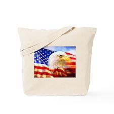 American Bald Eagle Collage Tote Bag