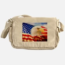 American Bald Eagle Collage Messenger Bag