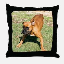 Tara the Boxer Throw Pillow
