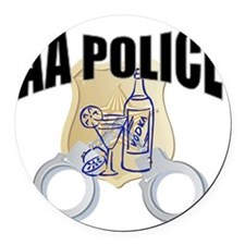 aa-police Round Car Magnet