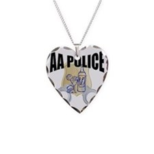 aa-police Necklace Heart Charm