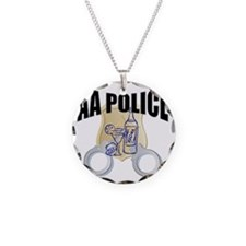 aa-police Necklace Circle Charm