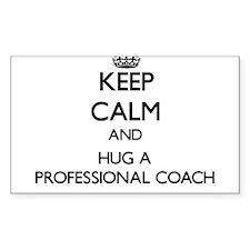 Keep Calm and Hug a Professional Coach Decal