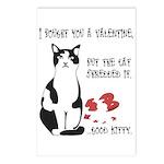 Heart Shredder Kitty Postcards (Package of 8)