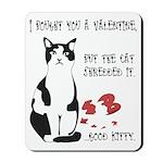 Heart Shredder Kitty Mousepad
