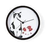 Heart Shredder Kitty Wall Clock