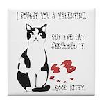 Heart Shredder Kitty Tile Coaster