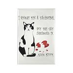 Heart Shredder Kitty Rectangle Magnet (100 pack)