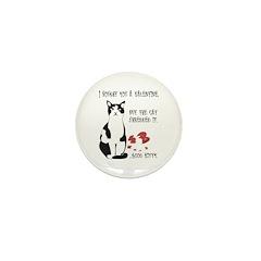 Heart Shredder Kitty Mini Button (10 pack)