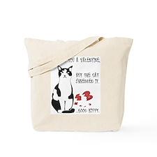 Heart Shredder Kitty (2-Sided) Tote Bag