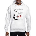 Heart Shredder Kitty (OnBack) Hooded Sweatshirt