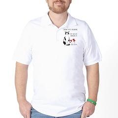 Heart Shredder Kitty Golf Shirt