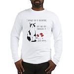 Heart Shredder Kitty Long Sleeve T-Shirt