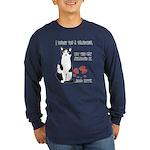 Heart Shredder Kitty Long Sleeve Dark T-Shirt