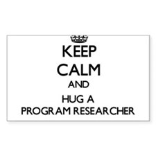 Keep Calm and Hug a Program Researcher Decal