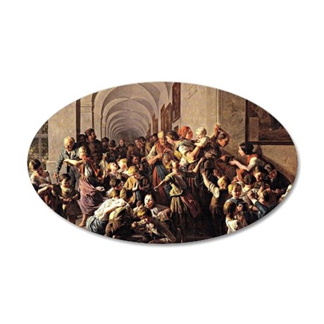 Waldmuller: The Cloister Sou 35x21 Oval Wall Decal